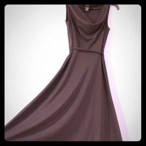 EXPRESS Black Cowl Neck A Line Dress